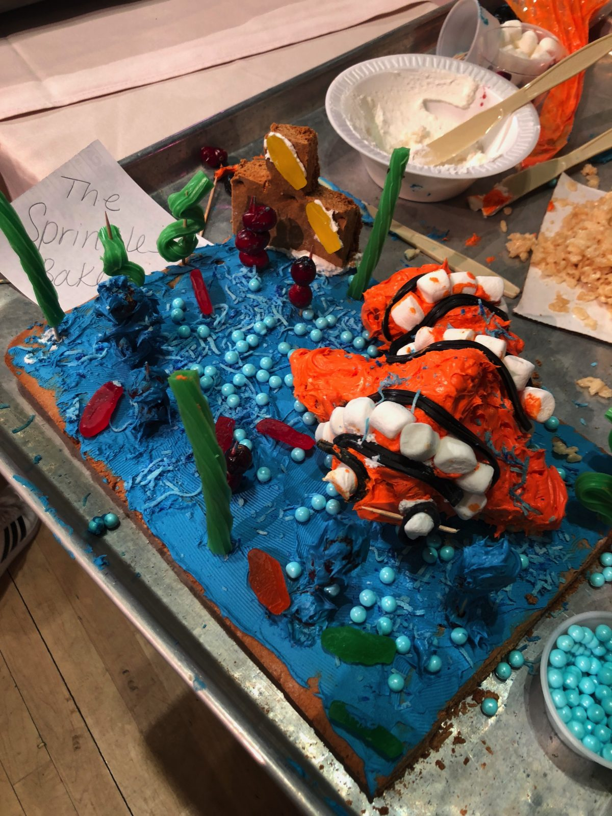 """""""Finding Nemo"""" Gingerbread Creation - Our Entry in the Gingerbread Wars Contest at Woodloch Pines"""