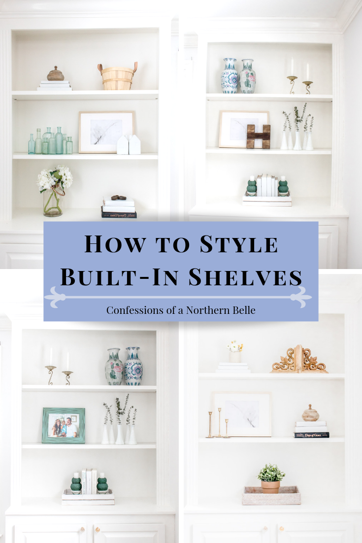 How to Decorate Built In Book Shelves