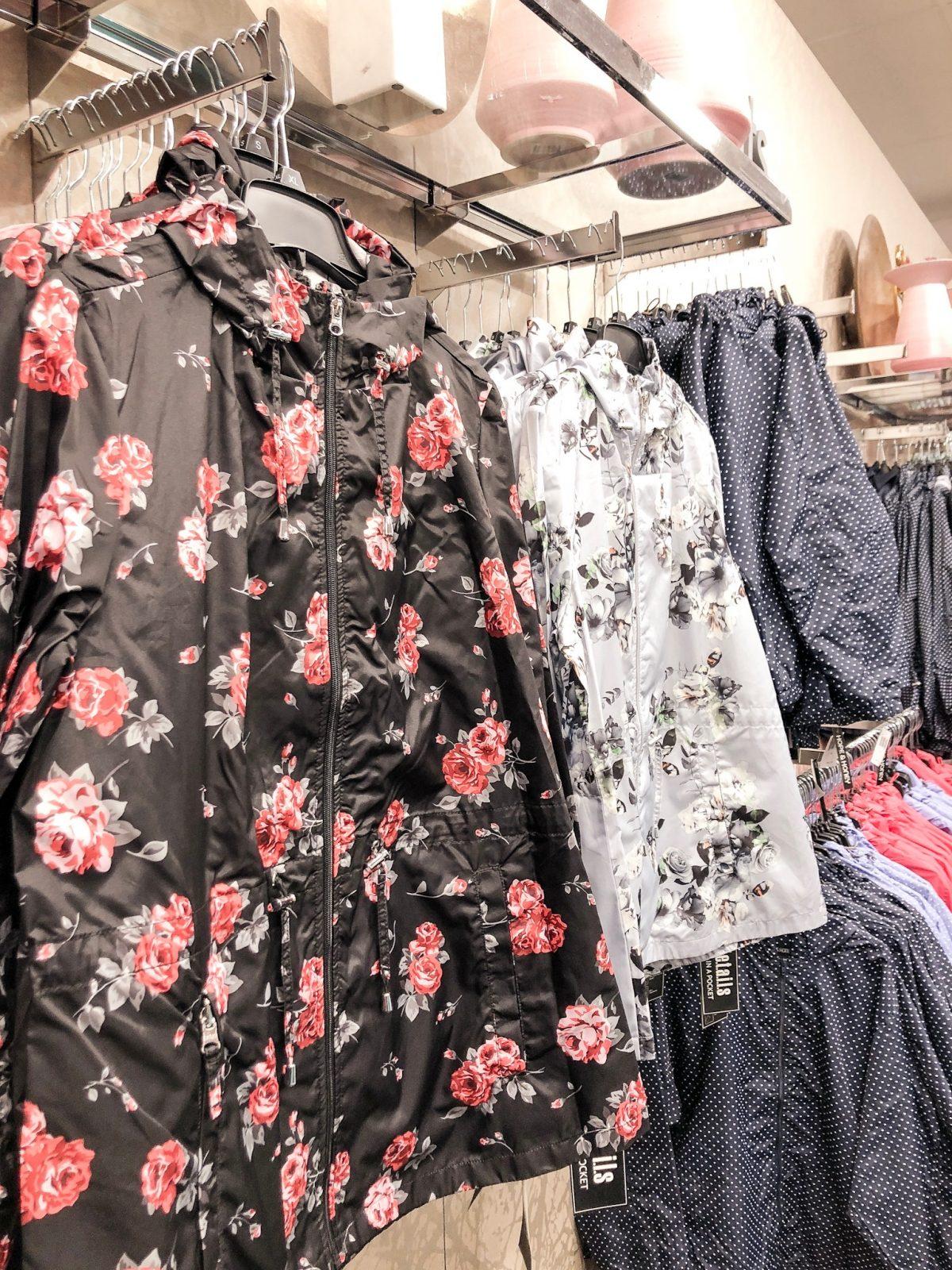 floral rain coats