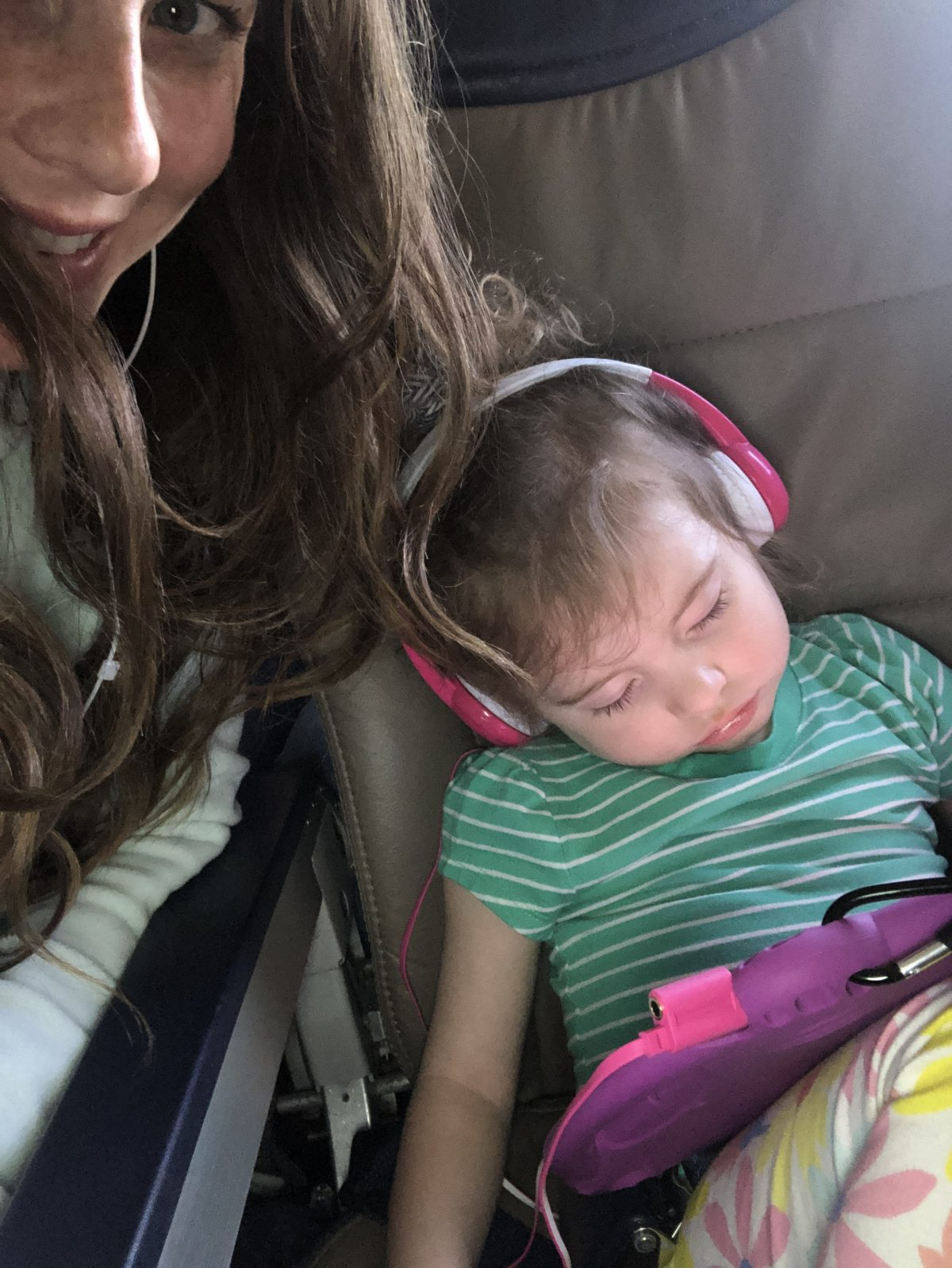 Sleeping Toddler on a Plane