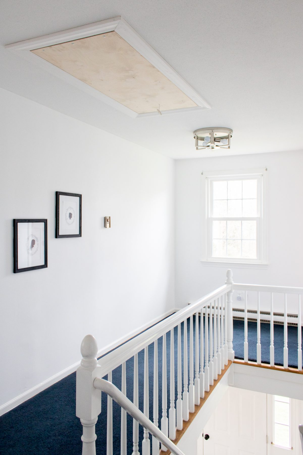 Peyton 3 Light Flush Mount in Upstairs Hallway
