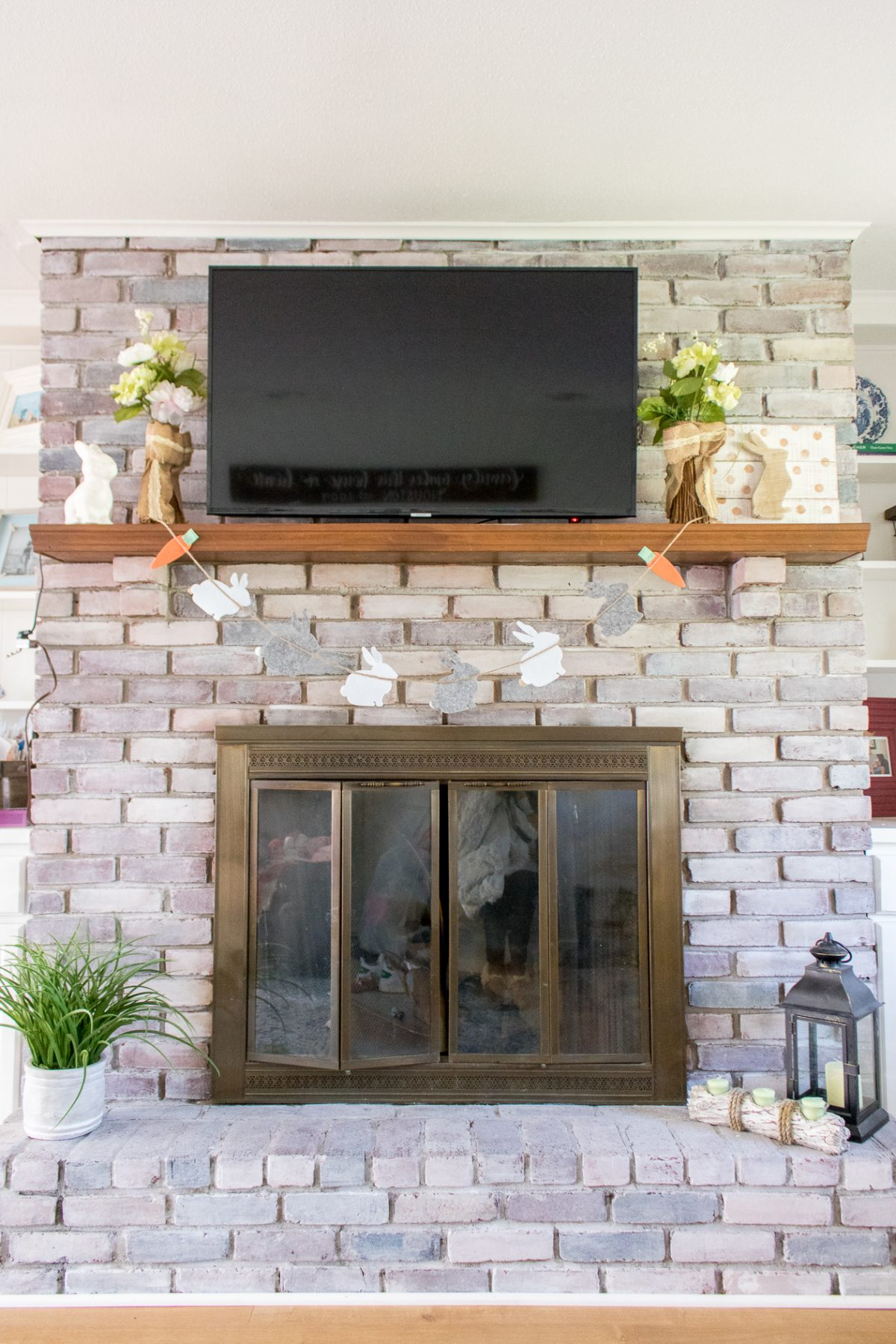 Easter Fireplace Mantle Decor