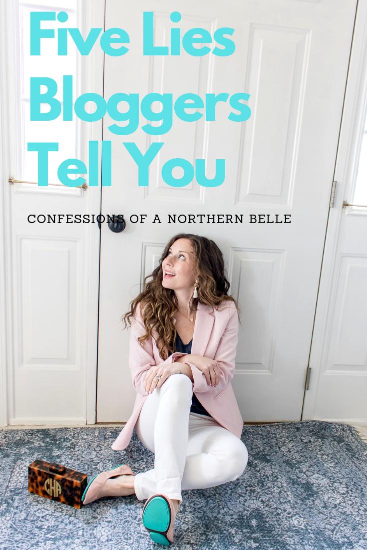 blogger sitting on rug