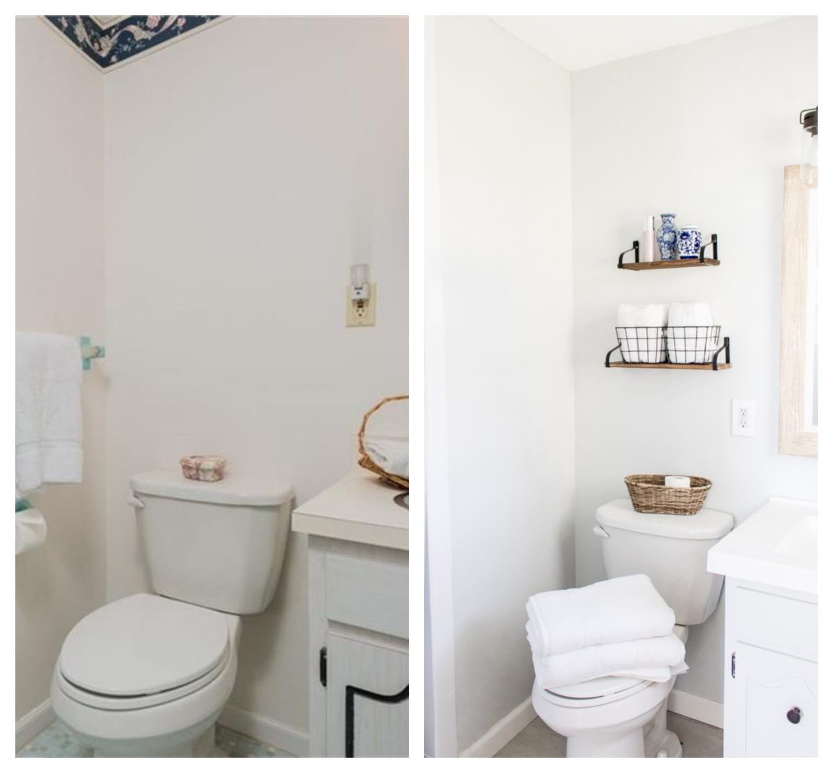 Bathroom Toilet Area Before and After