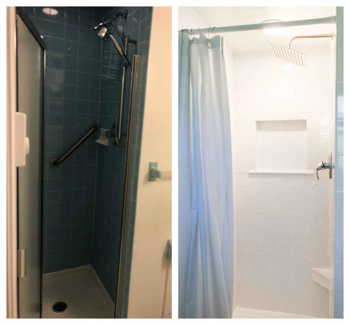 Bathroom Shower Renovation Before and After
