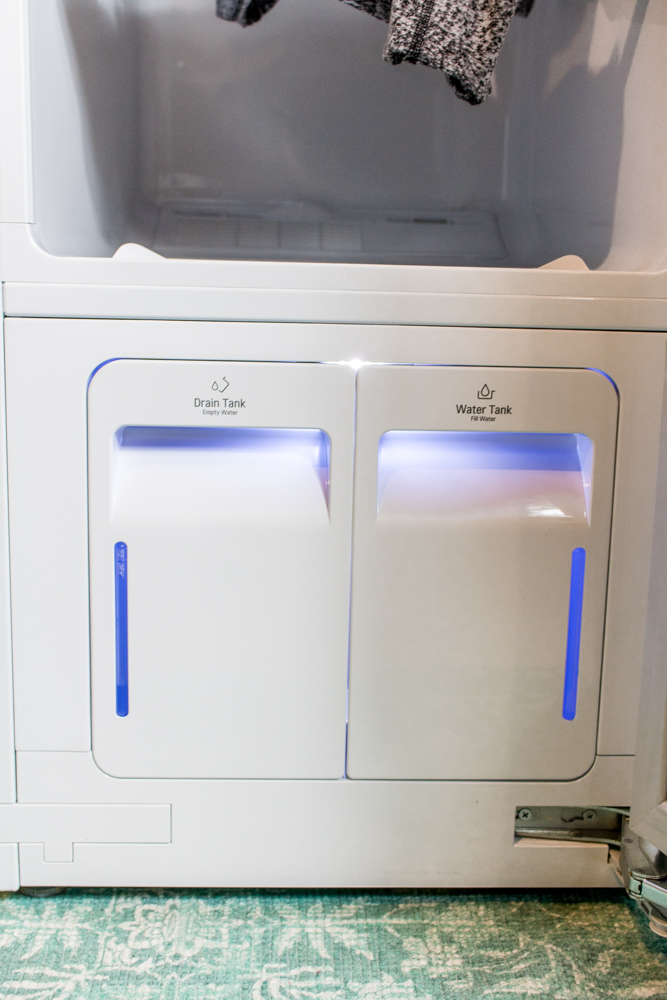 The LG Styler has two water reservoirs.