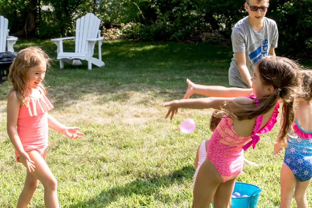 Ailey's Birthday Party with Balloon Toss