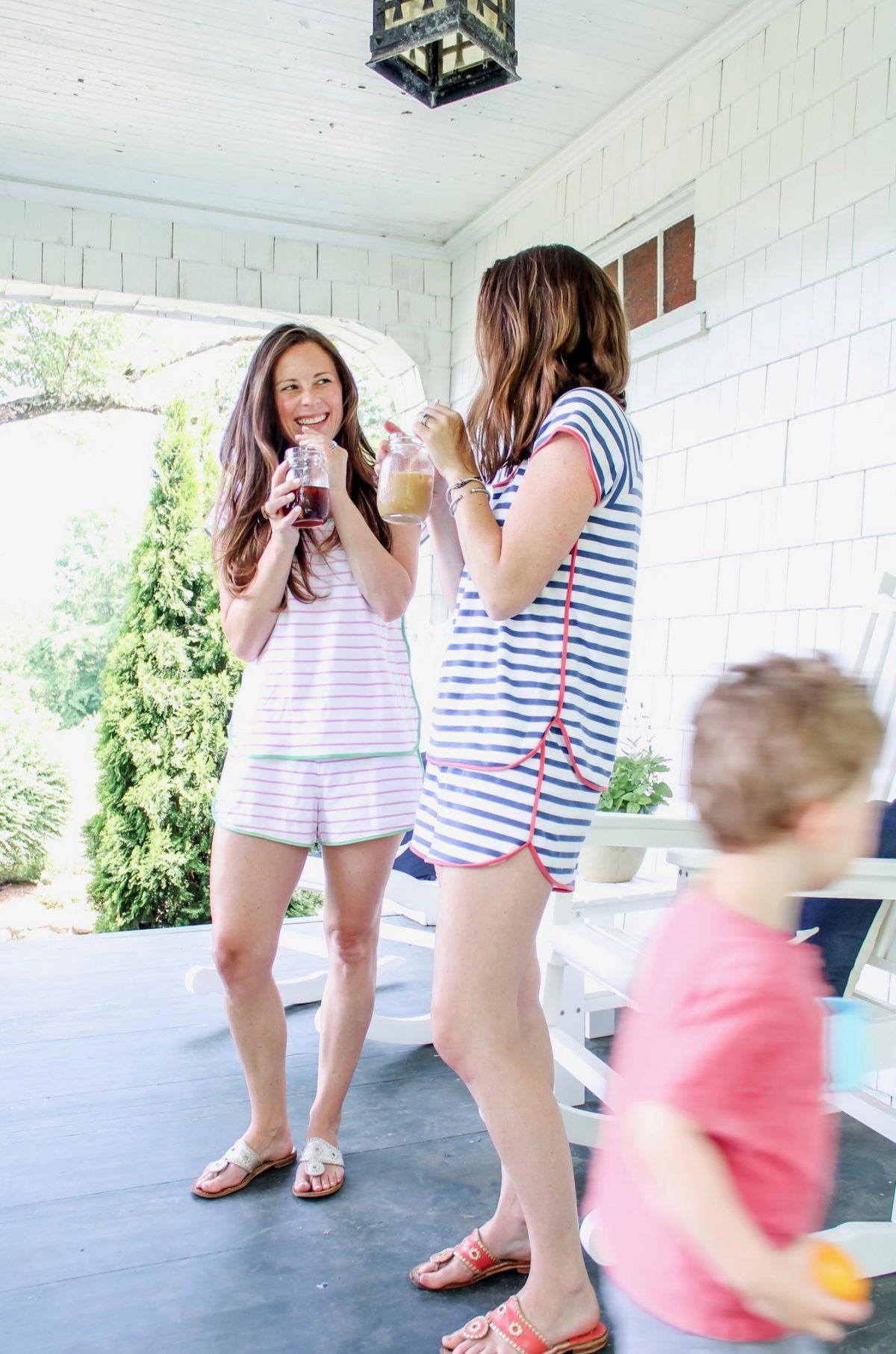 Moms wearing Lake Pajamas