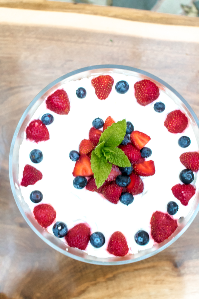 Strawberry and Blueberry Trifle Recipe