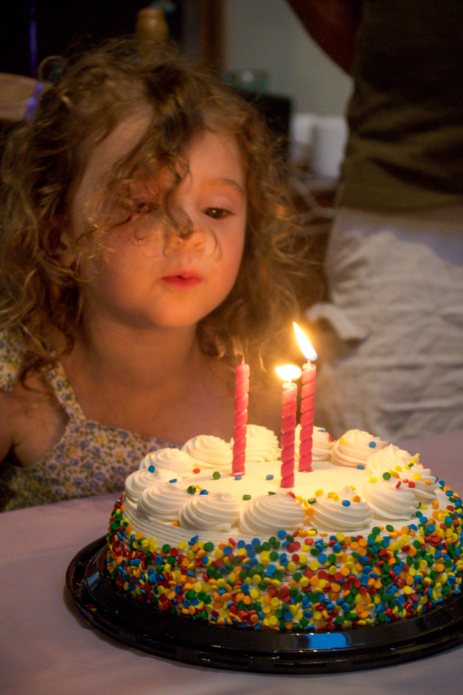 Third Birthday Blowing Out Candle - Loving Lately - Caitlin Houston