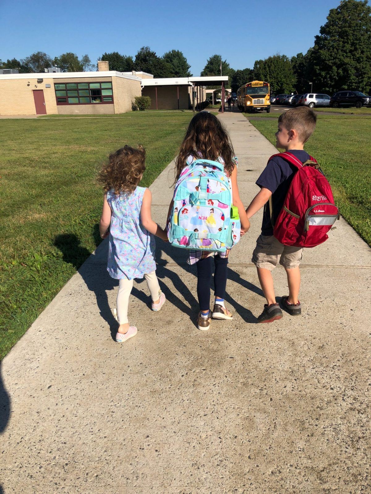 Kindergarten Kids Walking to School