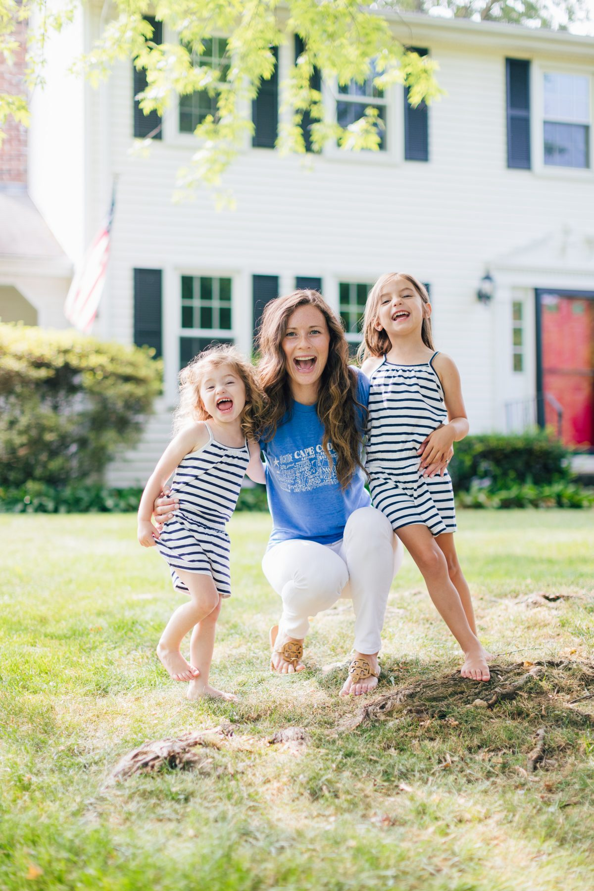 Caitlin Houston with Daughters - Connecticut Based Life and Style Mom Blogger