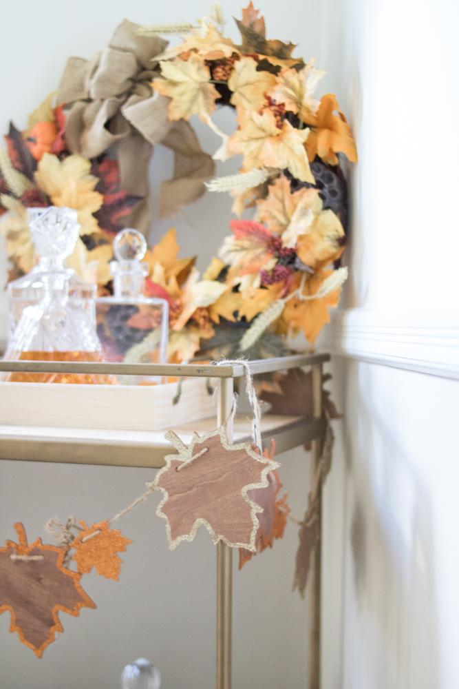 Fall Bar Cart Decor
