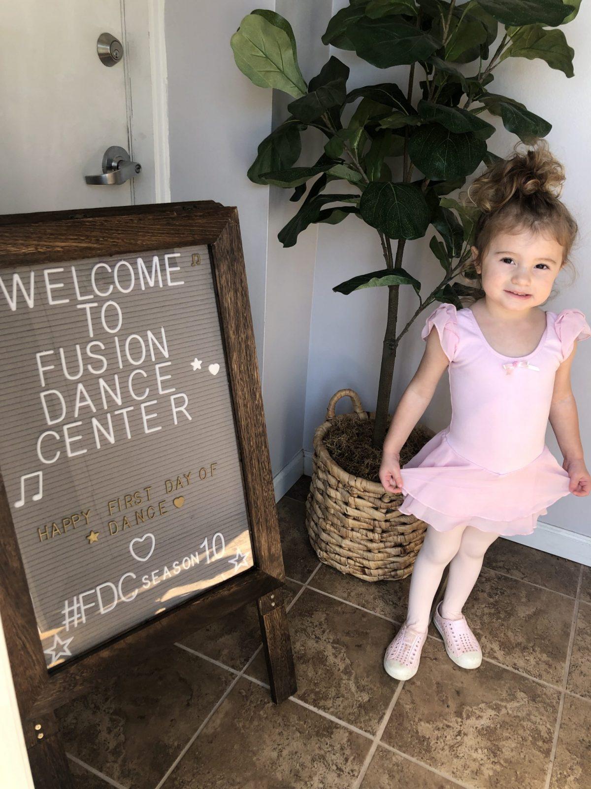 little girl at first day of dance class on weekend recap