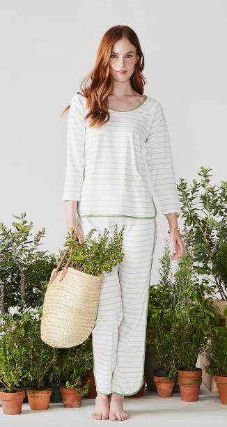 Pima Long Sleeve Pajamas in Vine by Lake Pajamas