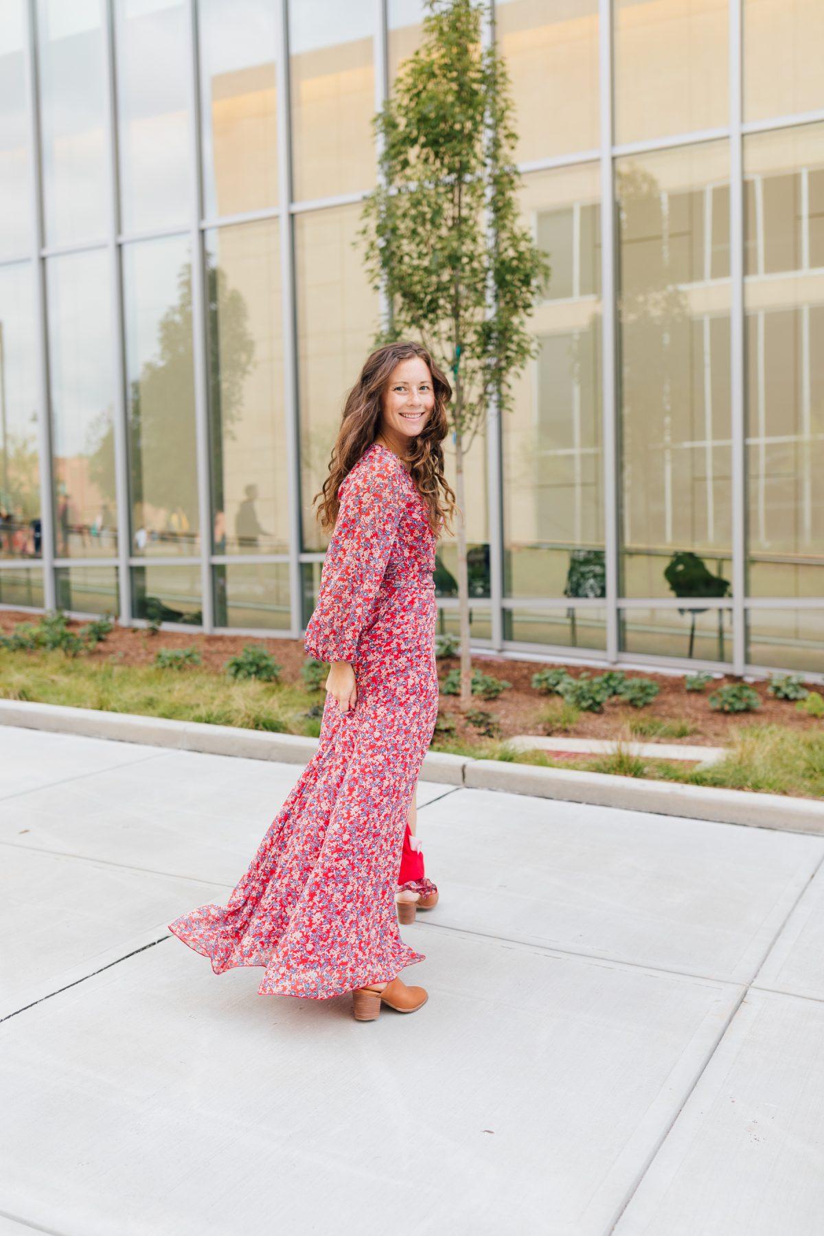 Red Blossom Maxi Caitlin Houston