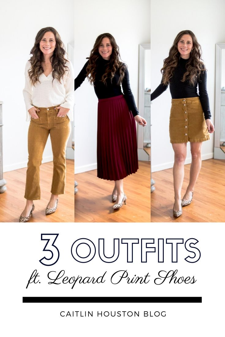 Three Outfits to Wear with Leopard Print Shoes