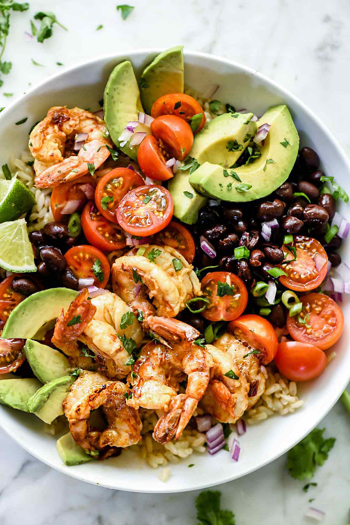 Chipotle Lime Shrimp Bowl by Foodie Crush