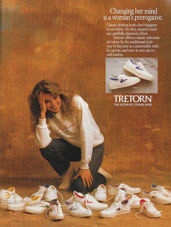 Tretorn Ad The Ultimate Tennis Shoe 1986
