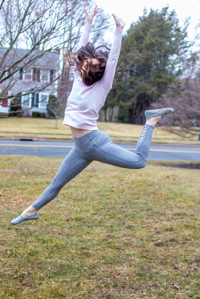 Life lately dance update woman leaping in air