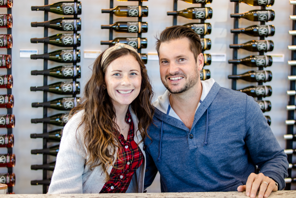 couple sitting at Wine Tasting at Cellardoor Winery
