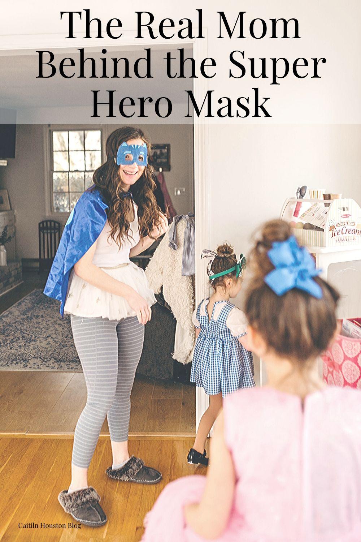 Mom dressed in Super Hero Costume