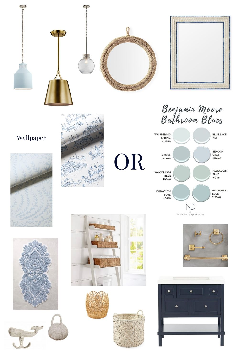 blue coastal bathroom inspiration