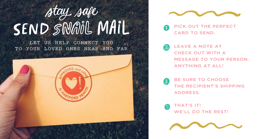 Hartford Prints Stay Safe Snail Mail Greeting Cards