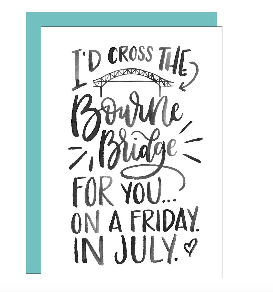 Kate Elizabeth Lettering Cape Cod Greeting Card Funny