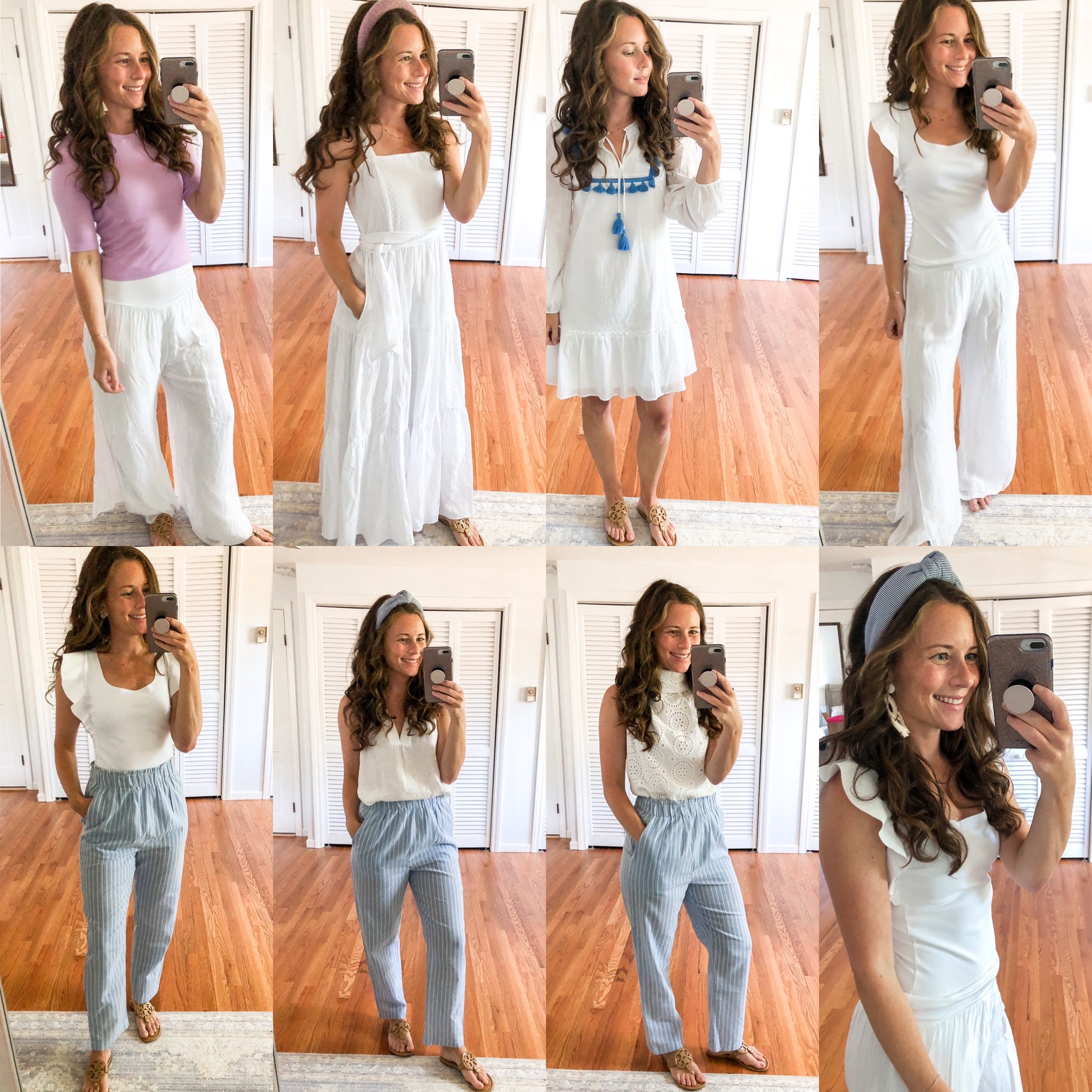 white summer outfit college