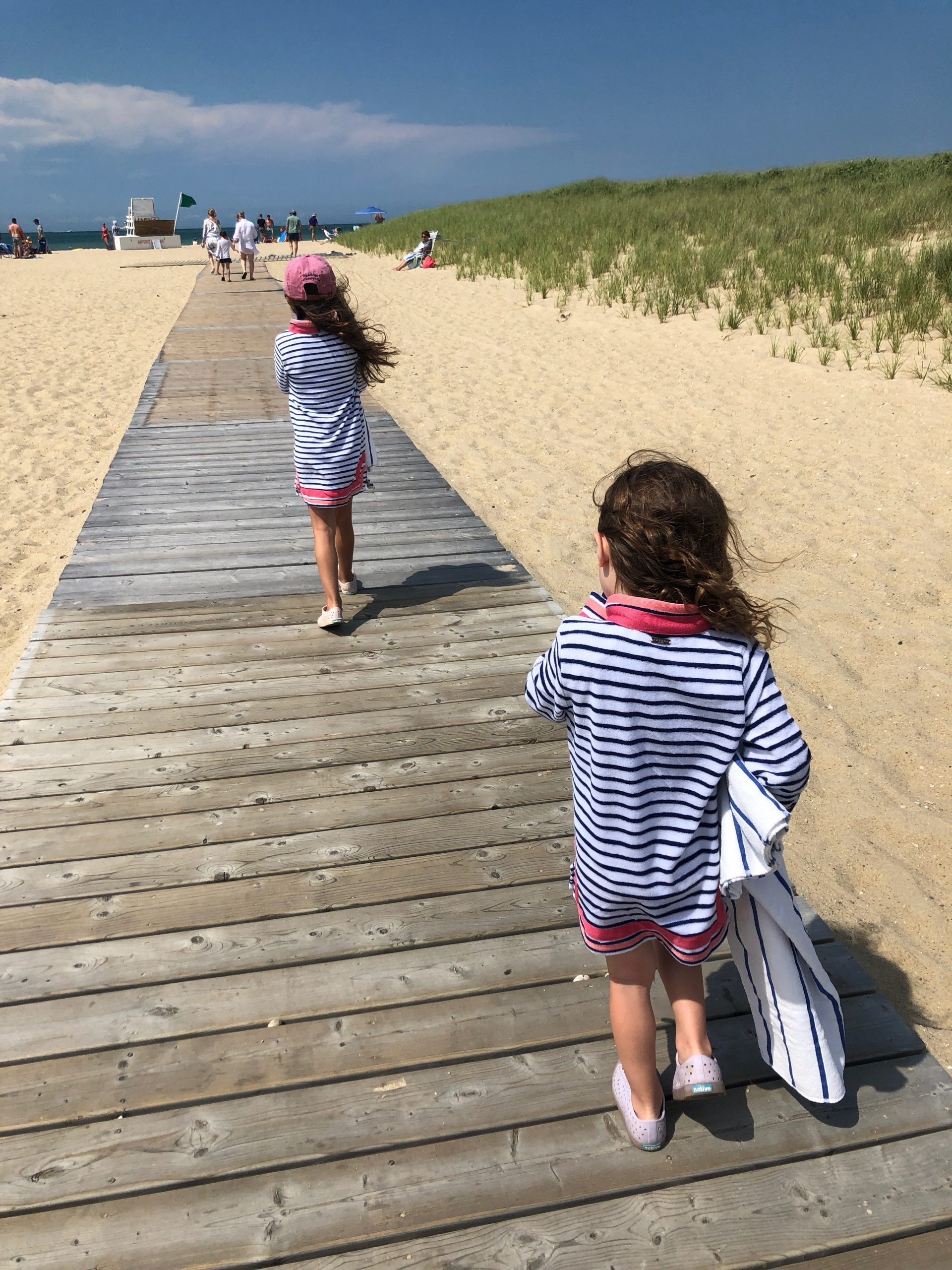 girls wearing sun safe terry cloth tunics from Cabana Life