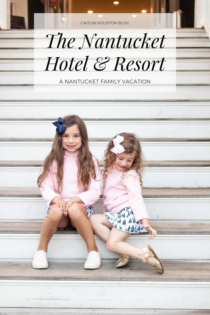 little girls sitting on the steps of The Nantucket Hotel and Resort
