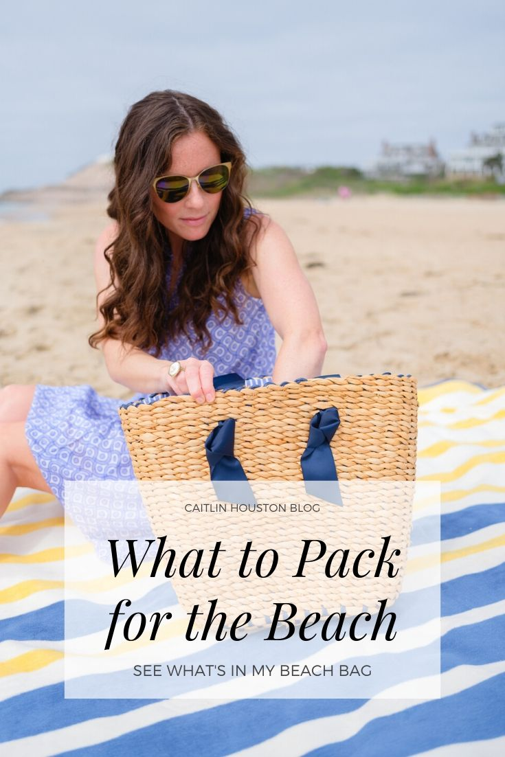 girl packing beach bag