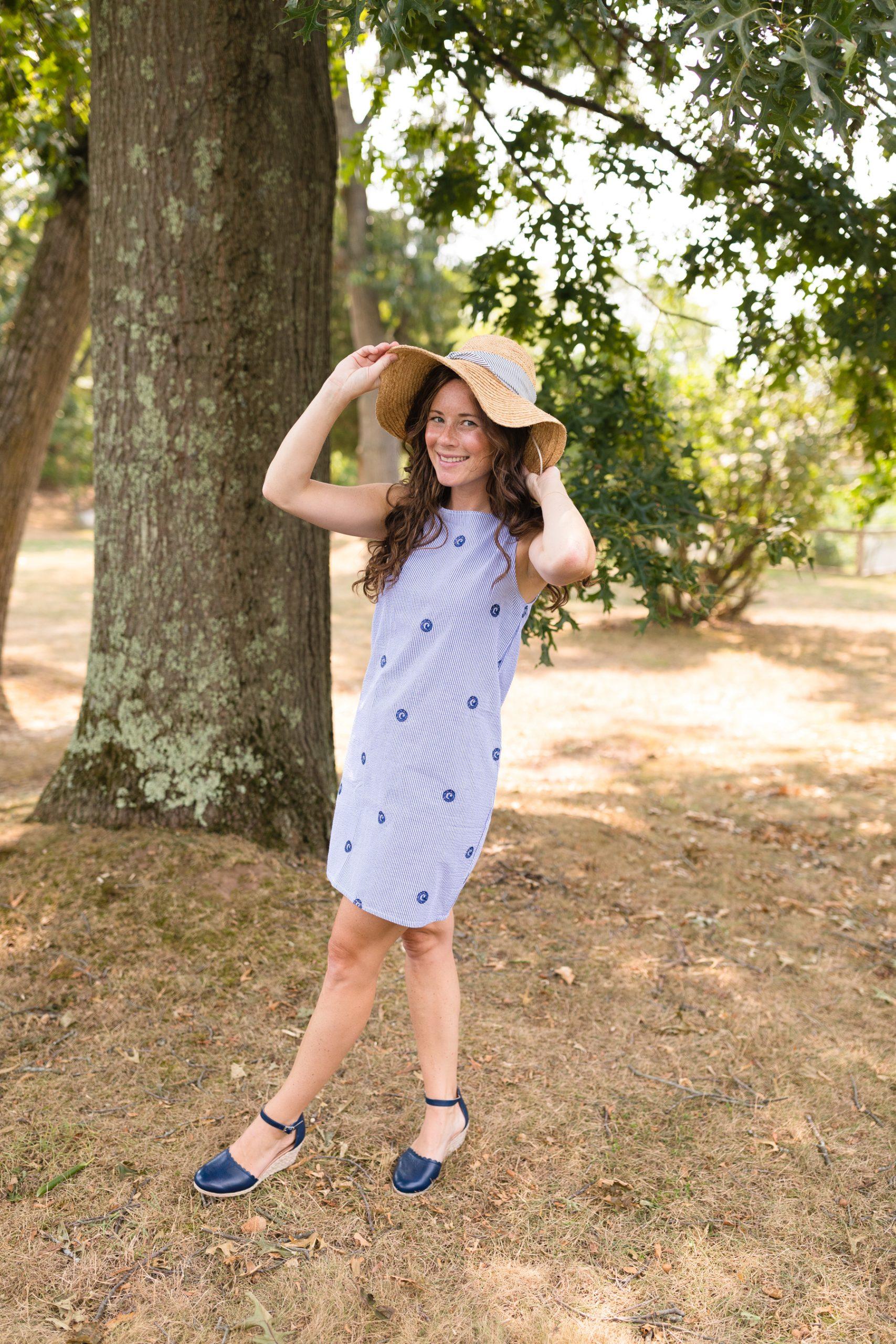 Caitlin Houston wearing Piping Prints Nantucket Dress