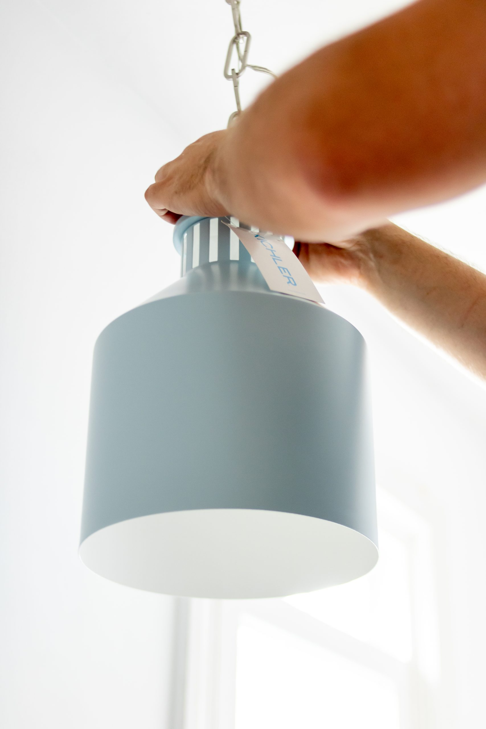 Montauk Pendant Light Fixture in Light Blue Kichler Lighting