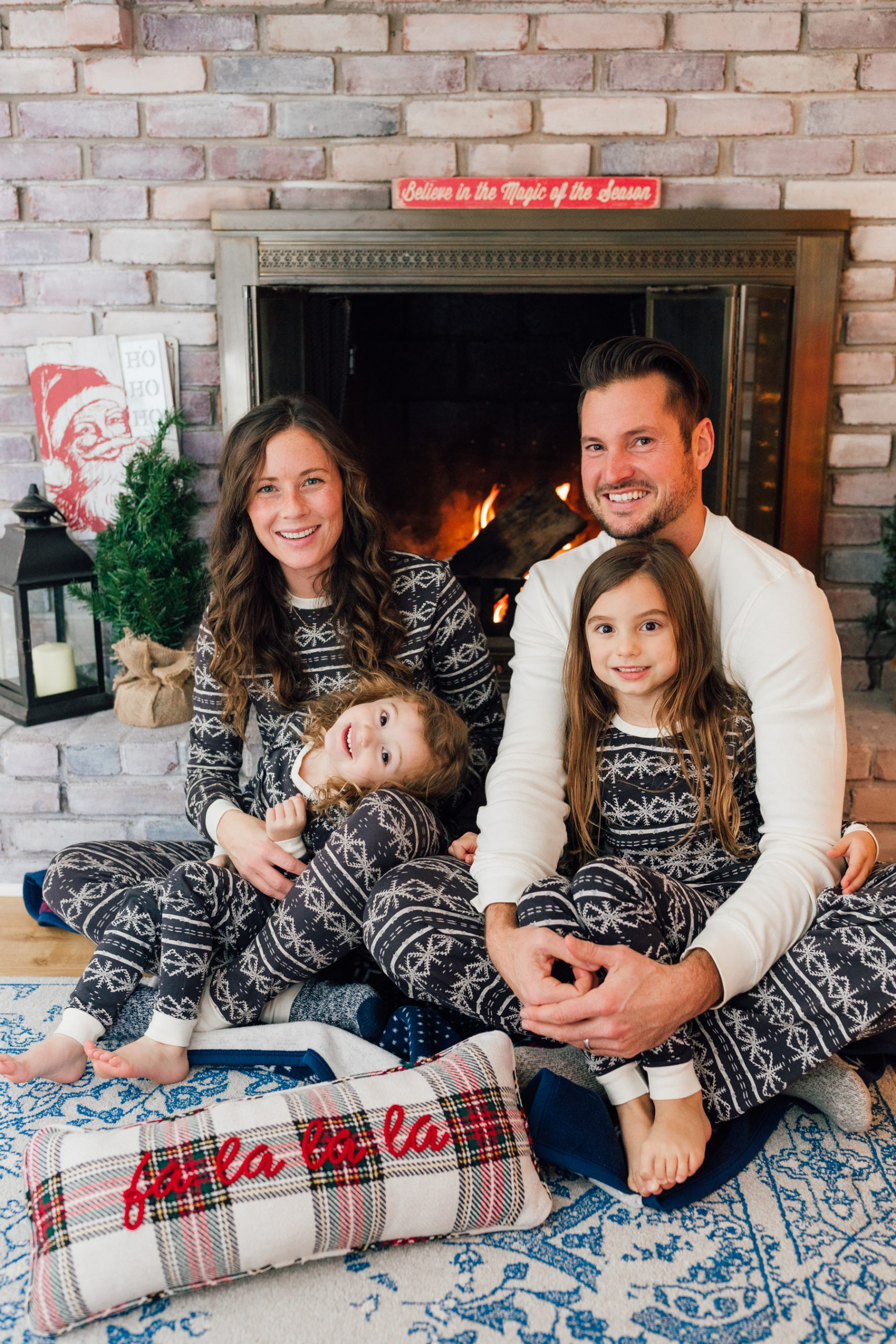 What to Wear for Family Holiday Photos - Matching Christmas Pajamas