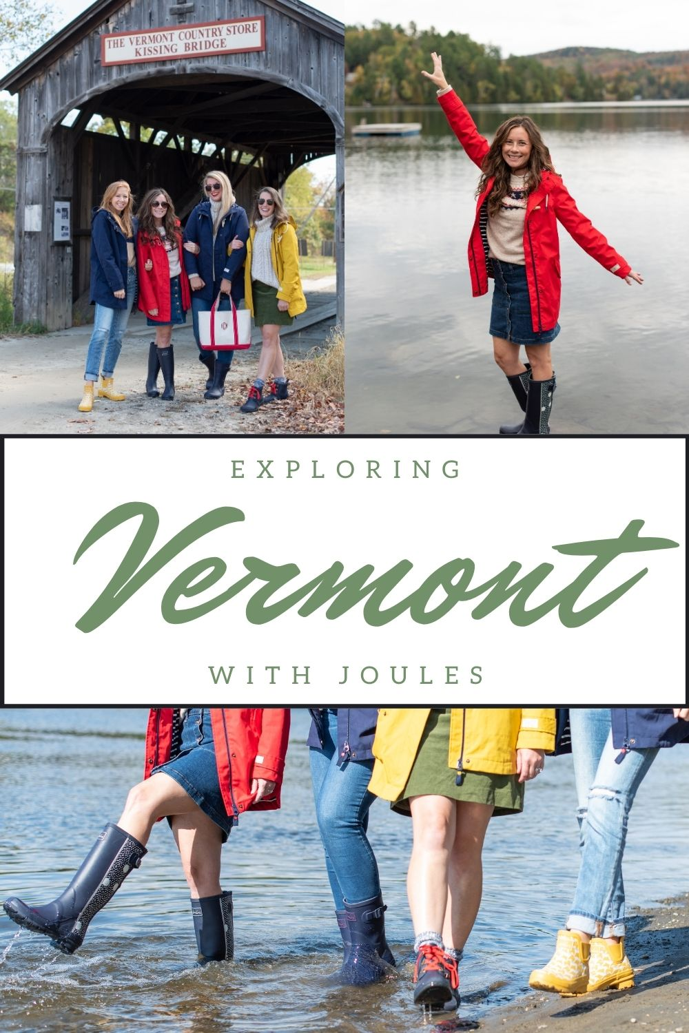 Exploring Vermont during the Fall - Girls wearing Joules