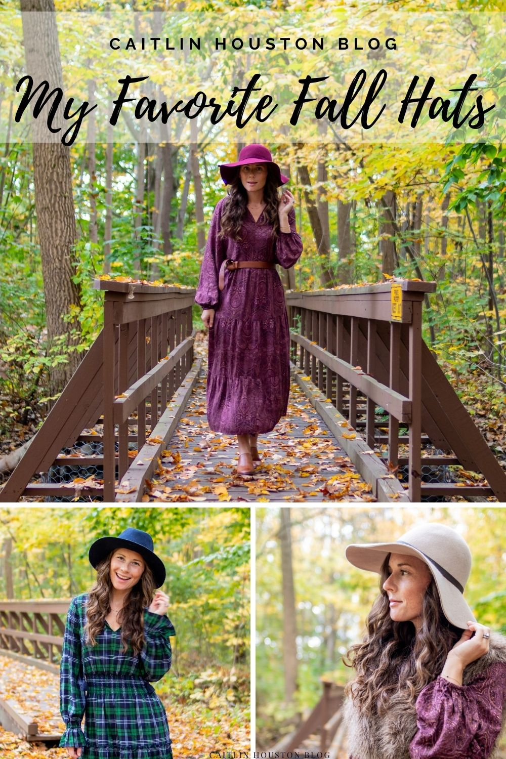 Styling Hats three ways for fall with caitlin houston