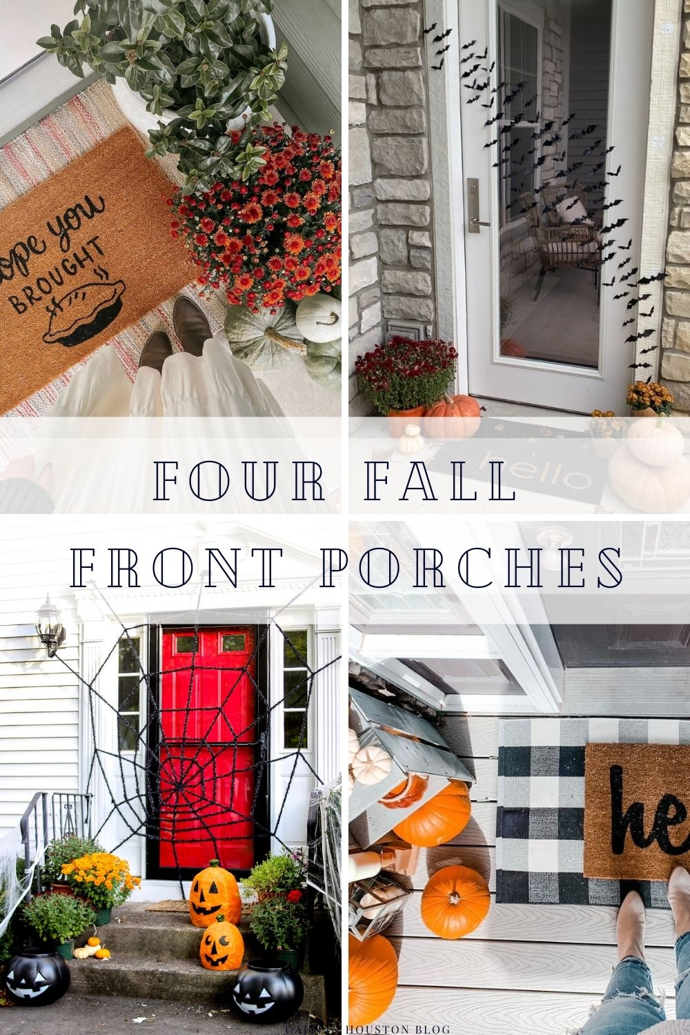 four fall front porches