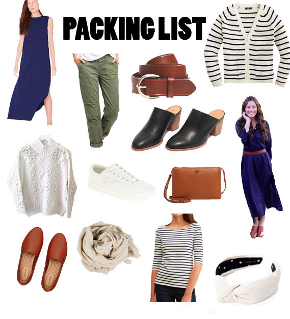 Packing list for Fall Trips in Martha's Vineyard and Cape Cod