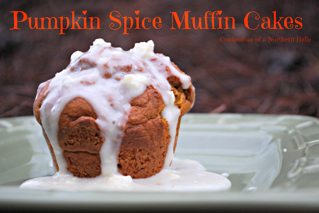 Pumpkin Spice Muffin Cakes with Cream Cheese Frosting