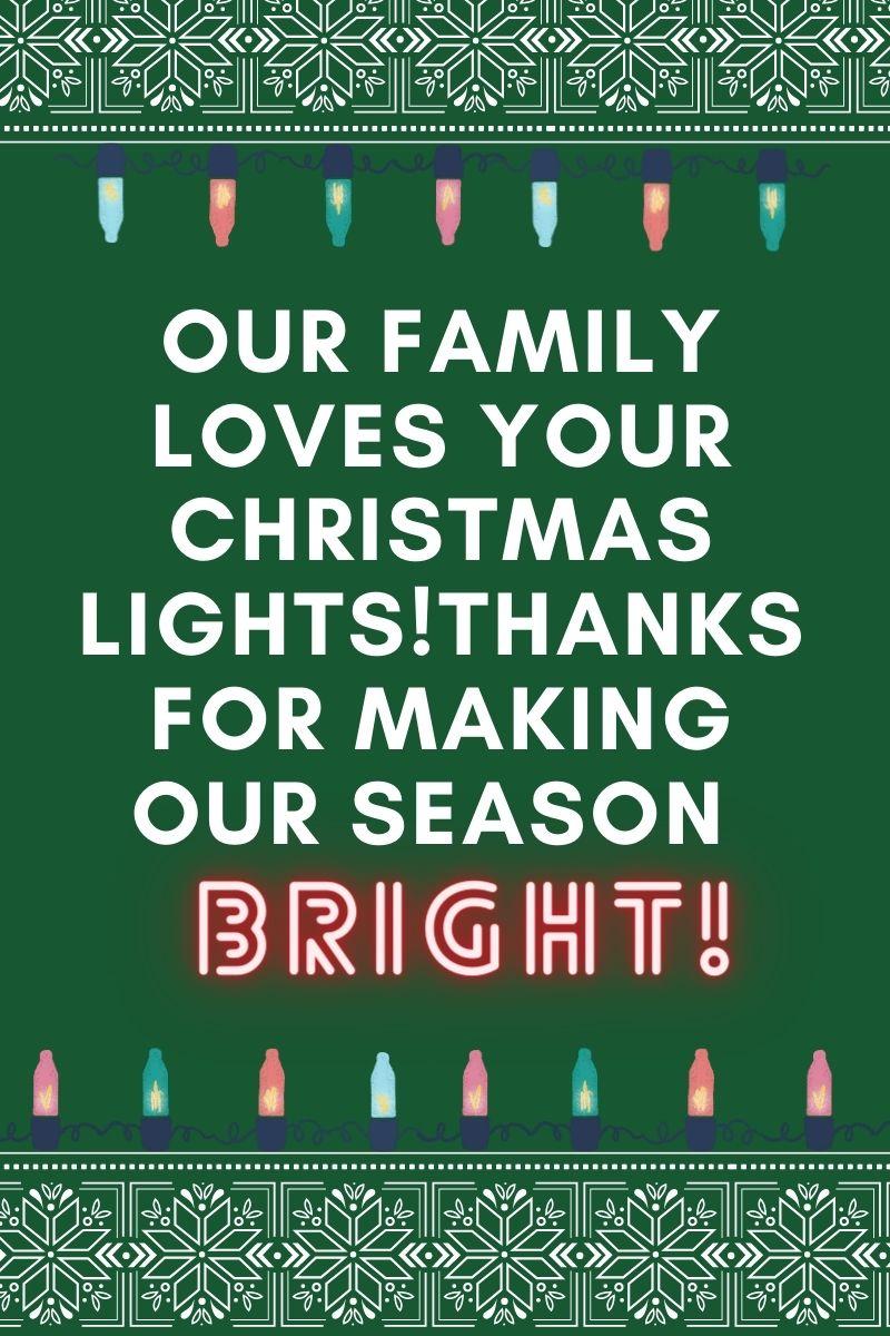 December Bucket List - Christmas Lights Award Note