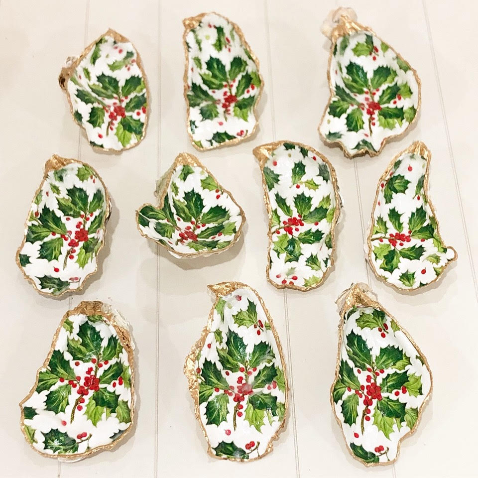 You me and the sea hand crafted decoupage oysters