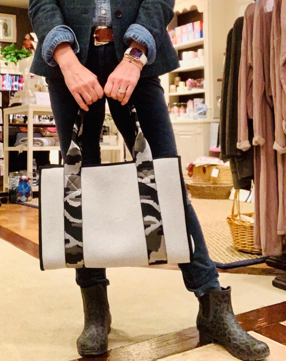 J.Alden Clothiers Essex CT Camo Tote Bag