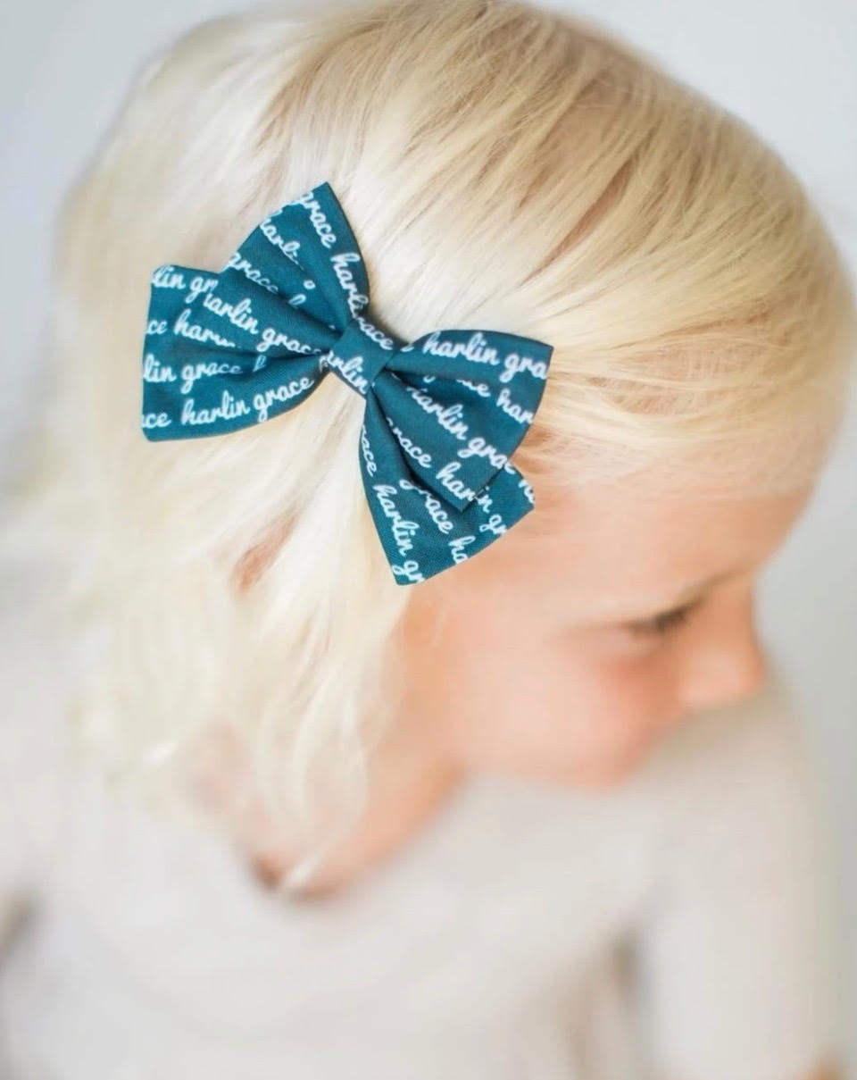 Cottontail bow and co. customizable bow for hair