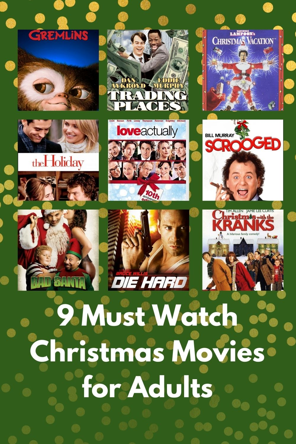 9 Christmas Movies for Adults - Funny Christmas movies to watch without kids