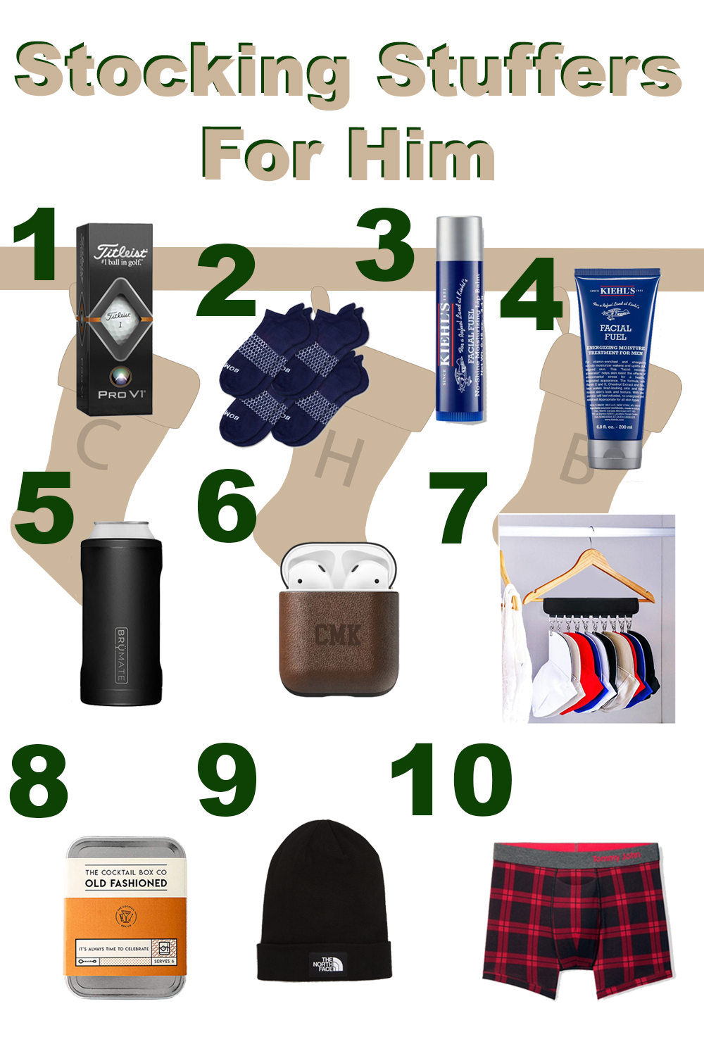 Stocking Stuffers for Him - Practical Items he will use