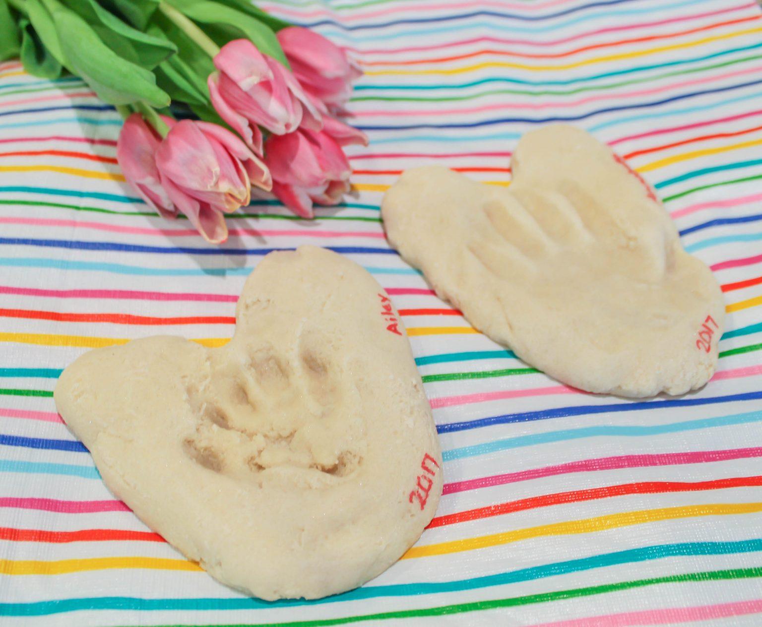 Indoor Winter Activities for Kids - Salt Dough Handprint Hearts