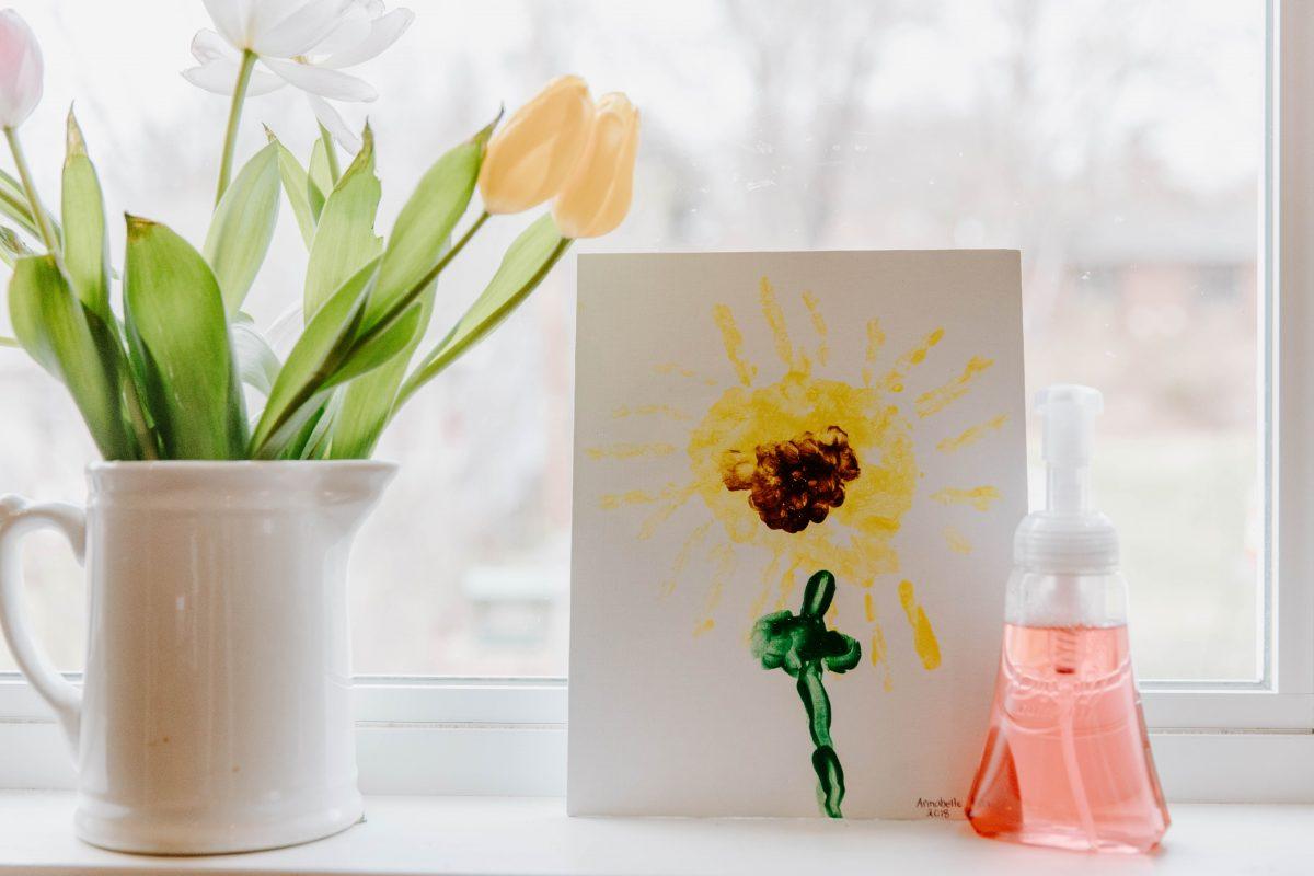Indoor Winter Activities for Kids - Handprint Flowers