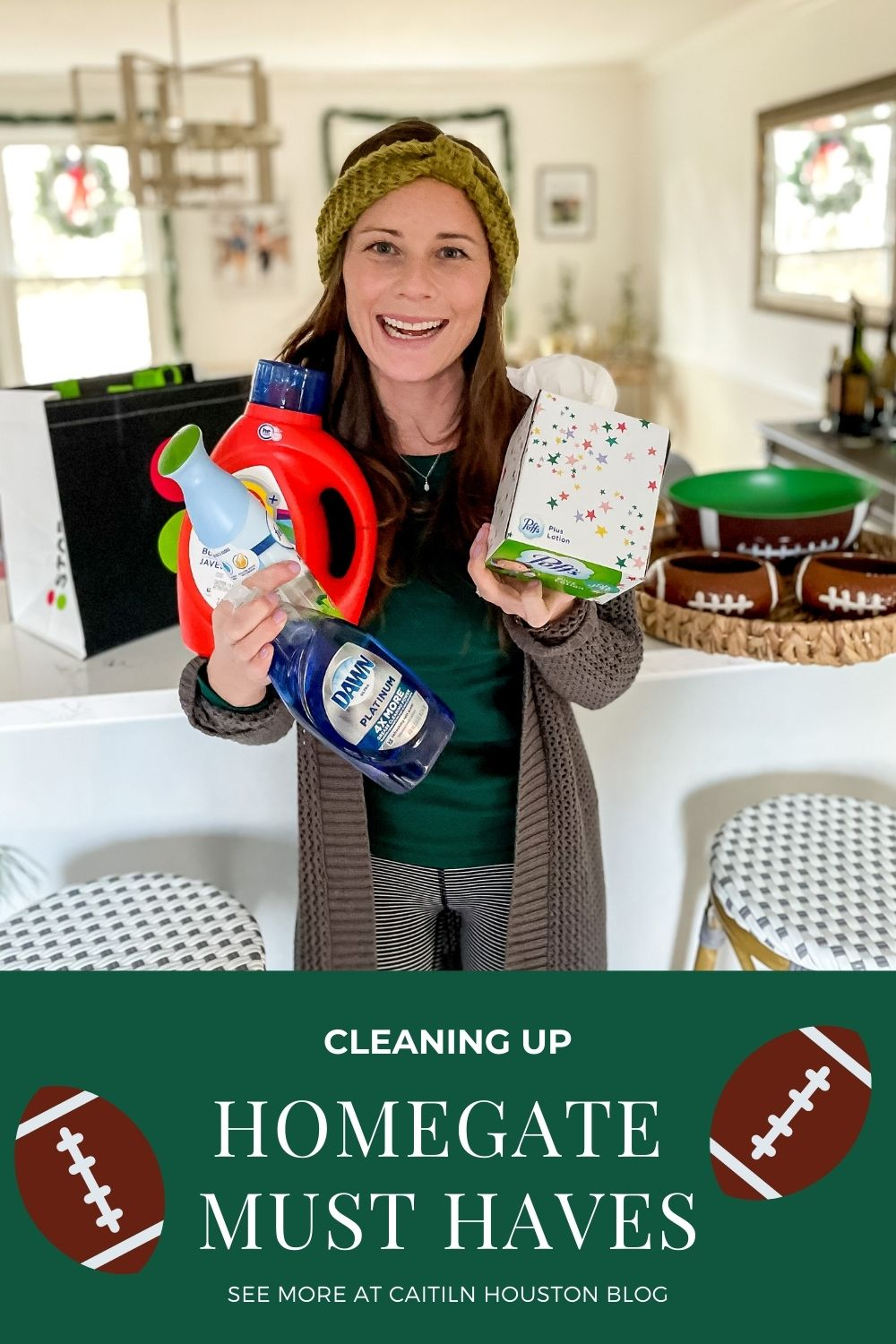 Must haves for Homegate Clean Up Tide, Febreeze, Dawn, Puffs